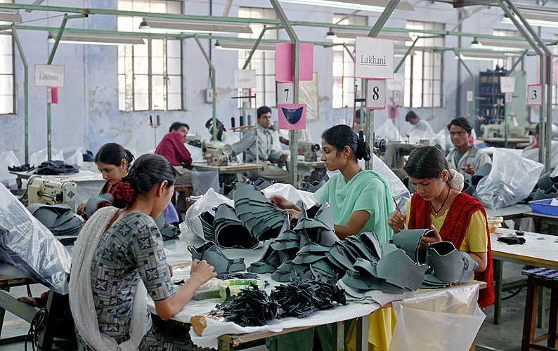 Schuhproduktion für Europa in Delhi
